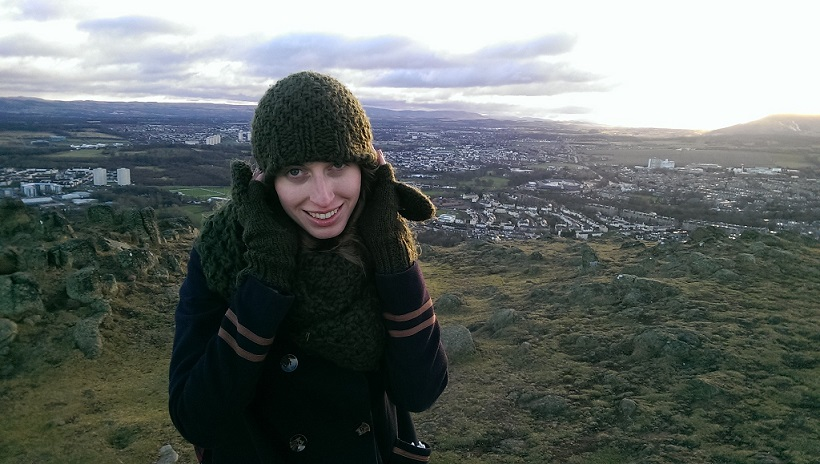 Me on Arthur's Seat on New Year's Day